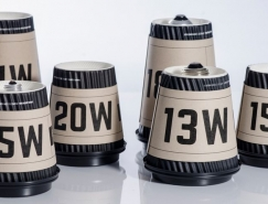 Edison's咖啡杯制作的灯泡包装设计
