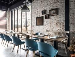 台中Gatto Bianco複古懷舊的磚牆風咖啡館設計