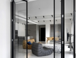 台湾新竹极简优雅的现代公寓设计