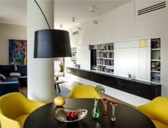 華沙開放式布局的優雅時尚公寓設計