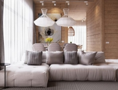 自然木质打造的现代温馨公寓