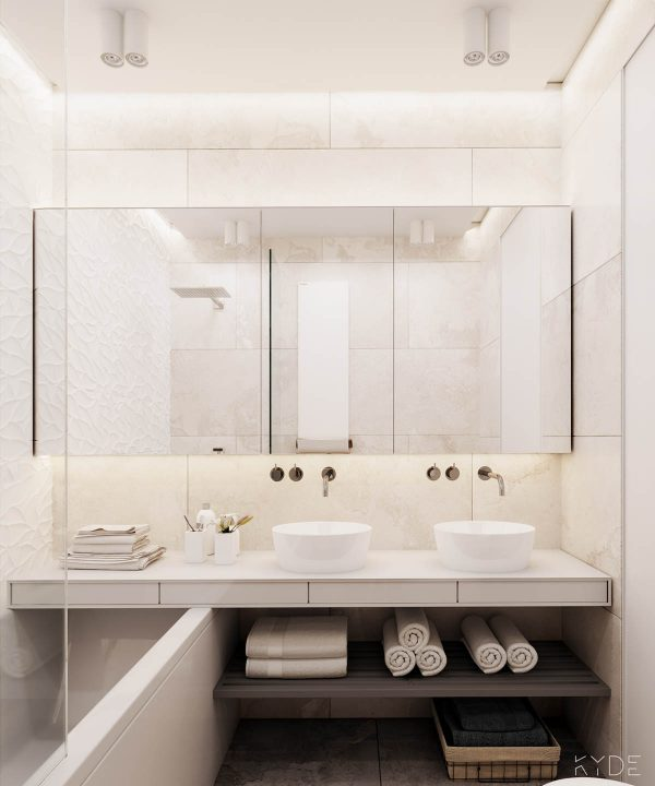 3个65平米北欧极简风格小公寓装修设计