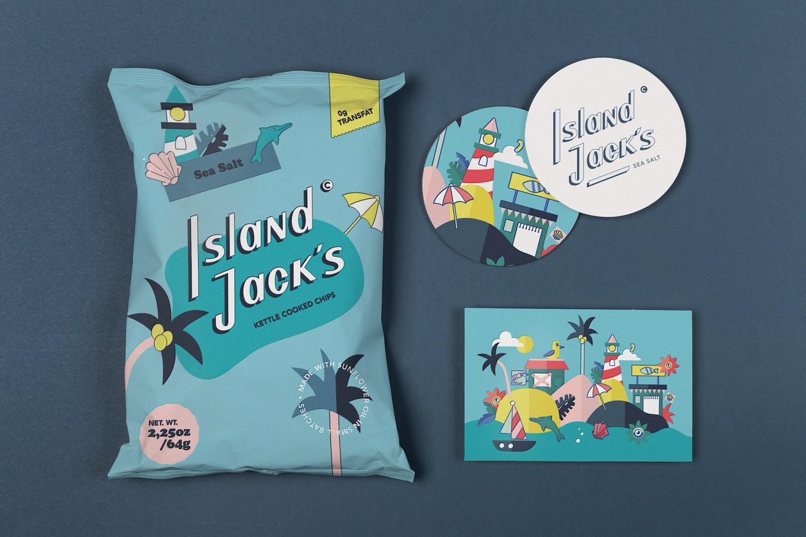 Island Jack´s薯片包装设计