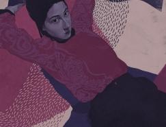 独特的色彩和纹理组合:Ana Godis插画作品欣赏