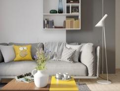 明斯克紧凑实用的小公寓装修效果图设计