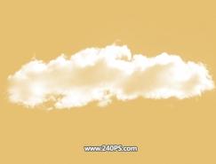 Photoshop如何用通道摳出白雲