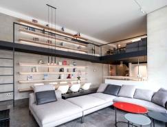 优雅时尚风格的现代简约Loft住宅设计