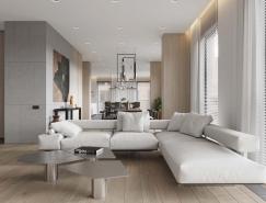 简洁素净的250平米住宅装修设计