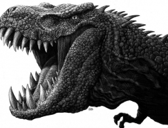 Ricardo Martinez動物黑白插畫作品