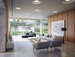 轻松舒适的元素:加州时尚现代豪宅设计