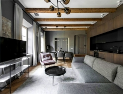 Vilnius时尚深灰色公寓装修设计