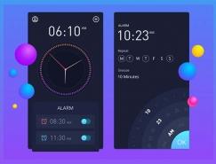 30款时钟和闹钟APP设计