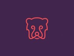 Yuri Kartashev线描风格动物logo设计