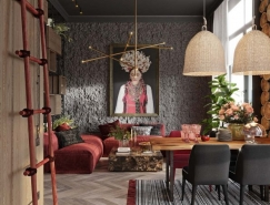 基輔鄉村元素風格的時尚公寓裝修設計