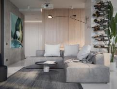 宁静的白色空间:基辅现代简约的公寓,体育投注