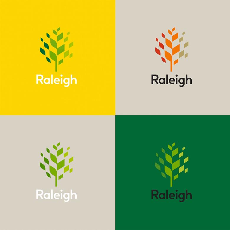 橡树之城罗利(Raleigh)启用全新的城市形象标识