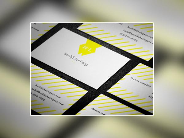 30个条纹风格创意名片设计
