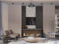 柔和色調的現代豪華住宅裝修設計