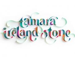 Sabeena Karnik精美的纸艺文字设计