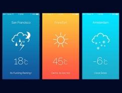 30个天气和气温APP UI设计欣赏