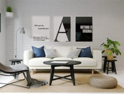 3个清新极简风格家居装修效果图设计