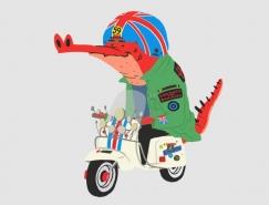 Cesar Martinez:可爱幽默的鳄鱼插画