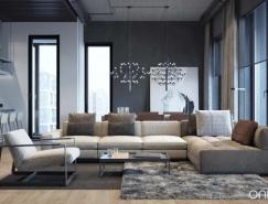 舒适与工业风格融合的现代Loft住宅设计
