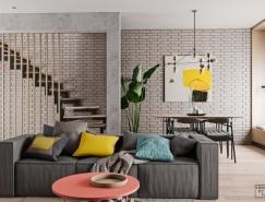 轻松舒适的114平米复式公寓设计