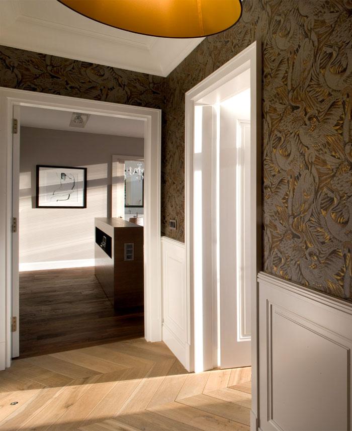 完美古典风格的250平米华沙湖岸顶层公寓