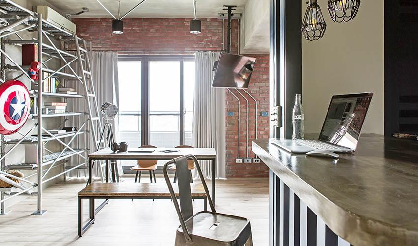 原汁原味的LOFT风—台湾69㎡单身公寓设计
