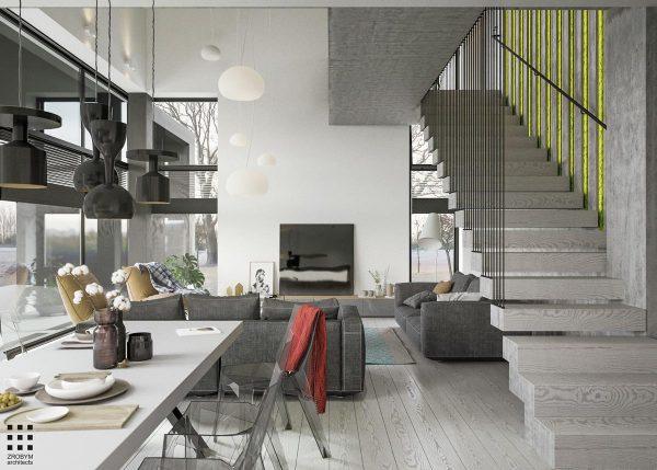 灰色系简约家居别墅设计