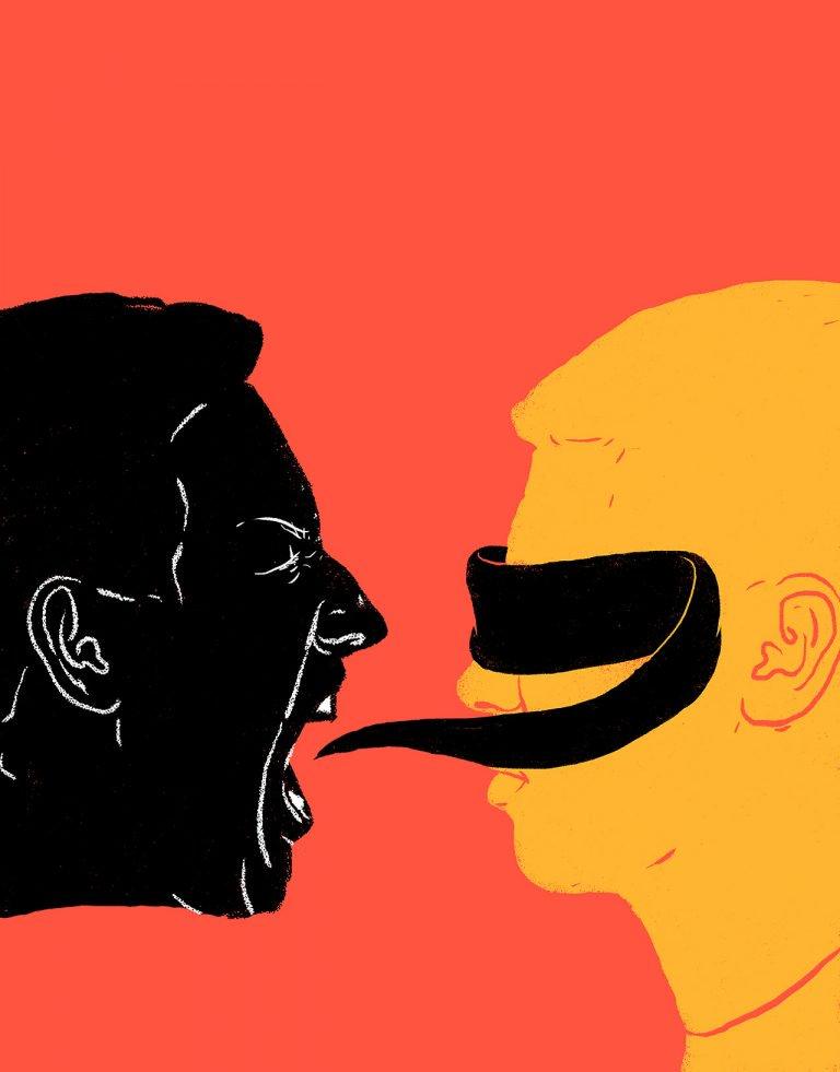 Jim Cooke意味深长的讽刺插画设计