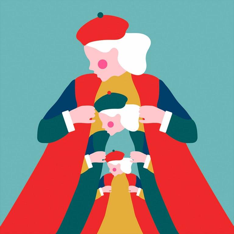 简单的配色 精美的创意:cecilia castelli插画作品欣赏