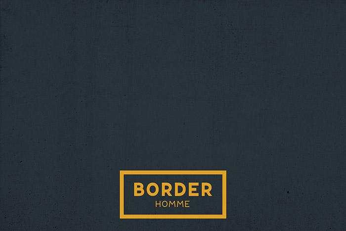 BORDER HOMME男士护肤品包装设计