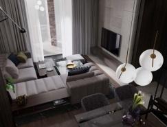 3个黑色主题风格小公寓设计