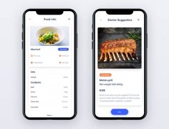 20款国外饮食推荐和指导的APP界面UI设计