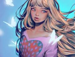 Mioree女孩插画设计欣赏