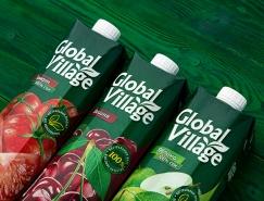 Global Village果汁包裝設計