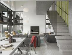 灰色係簡約家居別墅設計
