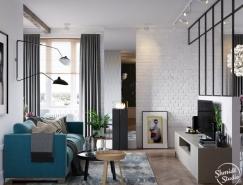 精致的北歐風格3居室公寓裝修設計