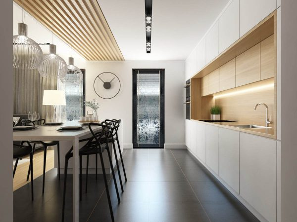 3个黑白与木质打造的简约风格空间