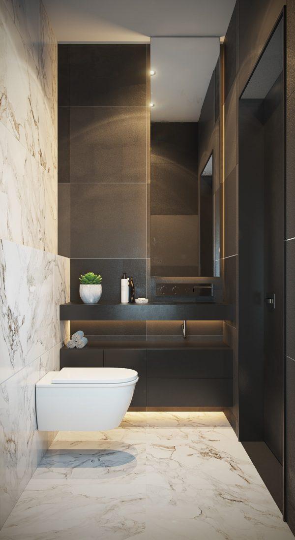 40个极简风格卫生间装修设计 设计之家