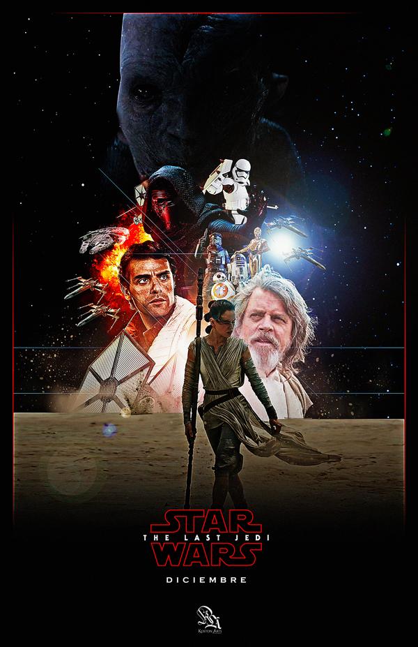 电影海报插画欣赏:星球大战:最后的绝地武士