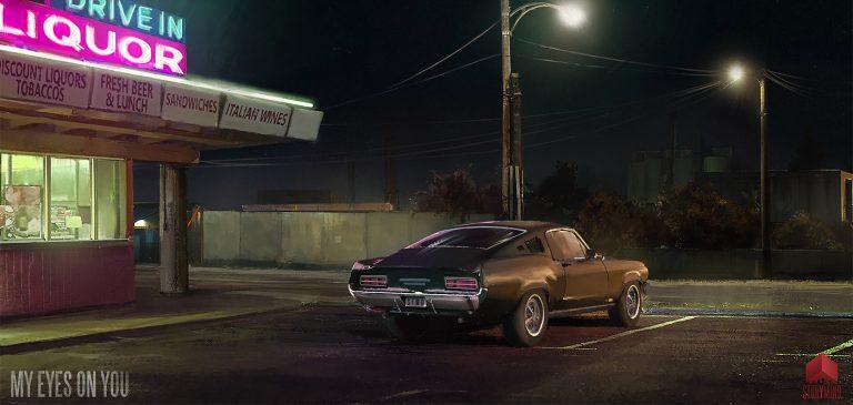 夜色下的霓虹:Tony Skeor概念插画作品