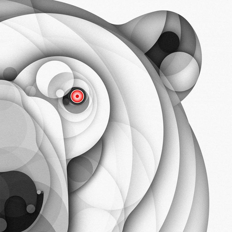 bruno silva创意几何动物插画作品