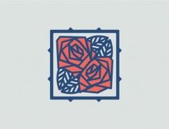 30款玫瑰花logo設計欣賞