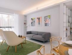 宁静清新的现代公寓装修设计