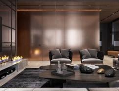 华丽的金属铜装饰的2个时尚豪宅设计