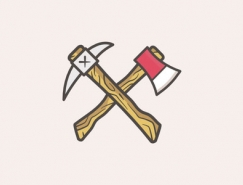 标志设计元素应用实例:斧头