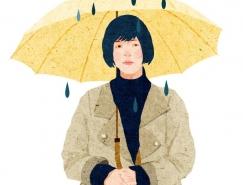 Xuan Loc Xuan色彩淡雅的人物插画作品